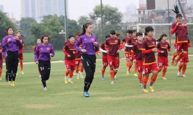 U19 nữ Việt Nam chuẩn bị chinh phục giải châu Á 2017