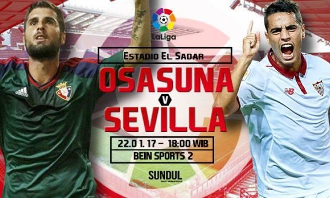 Osasuna vs Sevilla, 18h00 ngày 22/01: Chìm sâu xuống đáy