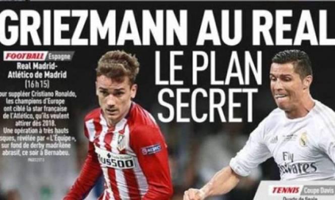 Báo uy tín tại Pháp đưa tin Griezmann sẽ đầu quân cho Real