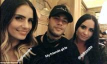 2 mĩ nhân bay đêm với Neymar đến 6 giờ sáng