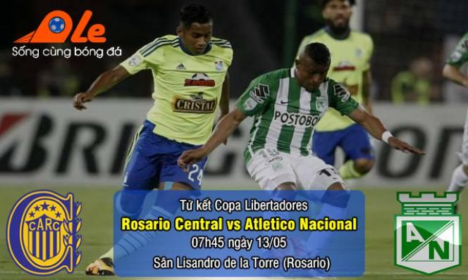 Rosario Central vs Atletico Nacional, 07h45 ngày 13/05: Tìm lợi thế trước trận lượt về