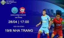 Nhận định Sanna Khánh Hòa vs Hải Phòng, 17h00 ngày 28/4 (vòng 1/8 Cúp QG 2018)