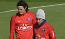 Neymar tạm thời bắt tay Cavani để dốc sức hạ Bayern