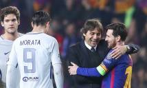 Bị Messi quật ngã, Conte dành cả buổi họp báo để... khen Messi
