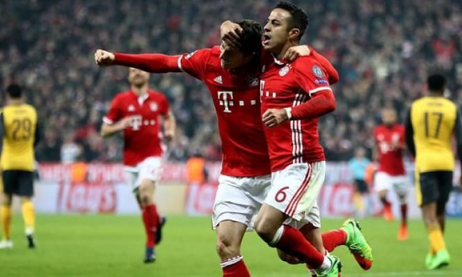 Thiago Alcantara tỏa sáng, Bayern nghiền nát Arsenal tại Allianz Arena