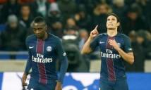 Cavani lập cú đúp, PSG giành chiến thắng nghẹt thở trước Lyon