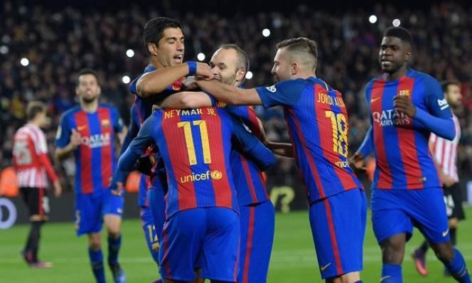 Sao Barca và tam tấu MSN đạt cột mốc khủng