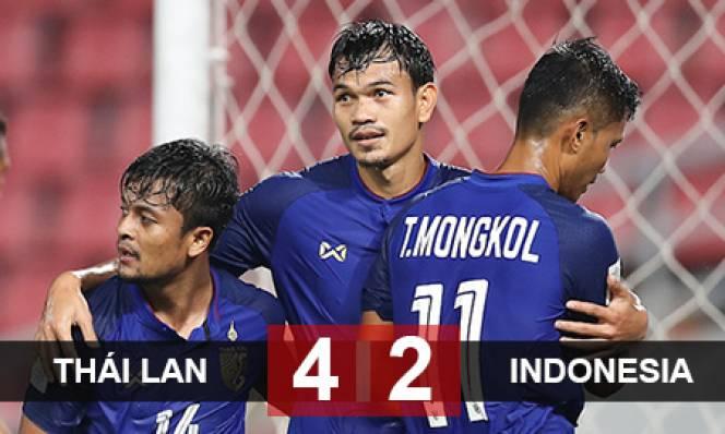 Thái Lan 4-2 Indonesia: Người Thái tiến gần vòng bán kết AFF Cup