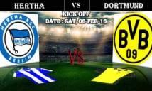 Hertha Berlin vs Dortmund, 21h30 ngày 06/02: Thử thách khó nhằn