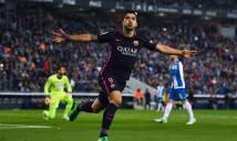 Suarez thiết lập kỷ lục 1000 bàn thắng cùng Barca