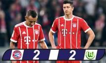 Bayern bị Wolfsburg cầm chân dù dẫn trước 2 bàn