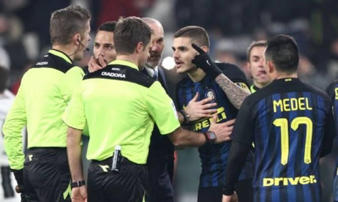 Sao Inter nhận án phạt vì dám thách thức trọng tài