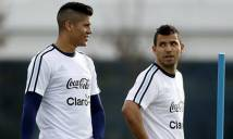 Bỏ qua mâu thuẫn, Aguero và Rojo sẽ hợp tác trong trận gặp Chile