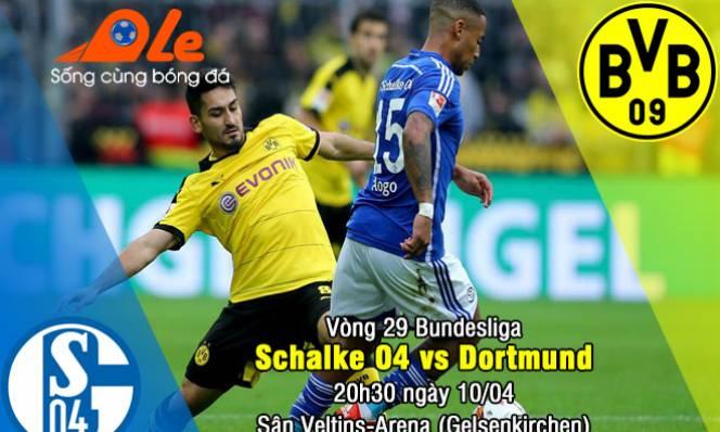 Schalke vs Dortmund, 20h30 ngày 10/04: Hoàng đế run rẩy