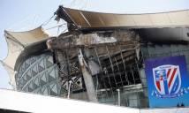 Sân nhà Thân Hoa Thượng Hải xảy ra  hỏa hoạn