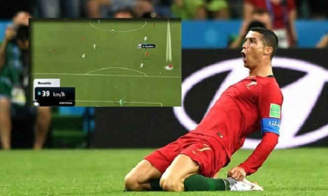 Ronaldo lập kỷ lục chạy nhanh nhất World Cup ở tuổi 33
