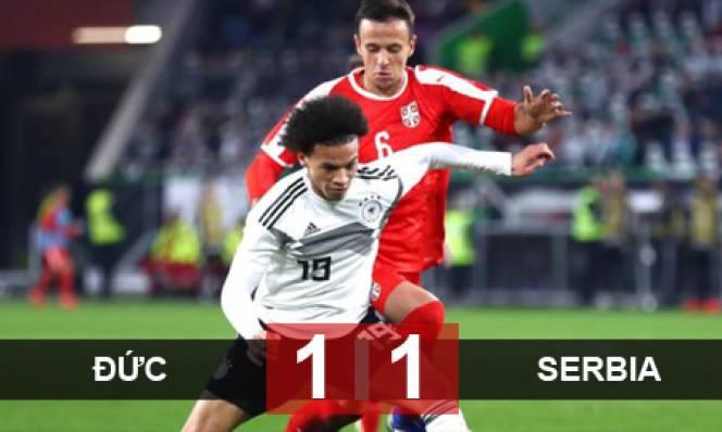 Đức 1-1 Serbia: 'Xe tăng đời mới' vẫn lệch thước ngắm